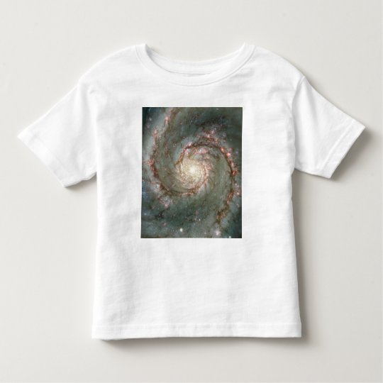M51Toddler Astronomy Science T-Shirt-Spiral Galaxy Toddler T-shirt