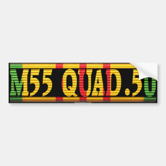 M55 Quad .50 Vietnam Service Ribbon Bumper Sticker Car Bumper Sticker