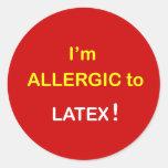 m5 - Soy alérgico - LÁTEX Pegatina Redonda