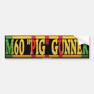 "M60 ""Pig"" Gunner Vietnam Service Ribbon Sticker"