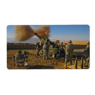 M777 Light Towed Howitzer Afghanistan 2009 Custom Shipping Label