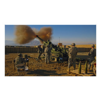 M777 Light Towed Howitzer Afghanistan 2009 Poster