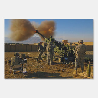 M777 Light Towed Howitzer Afghanistan 2009 Sign