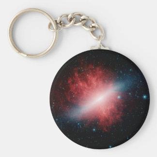 M82, la galaxia con un viento de Supergalactic Llavero Redondo Tipo Pin