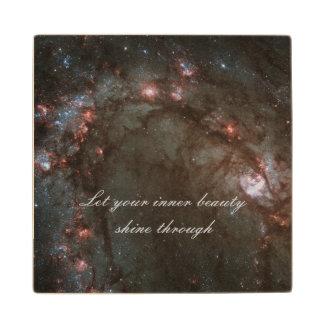 M83 Spiral galaxy Maple Wood Coaster