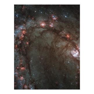 M83 Spiral Galaxy NASA Letterhead