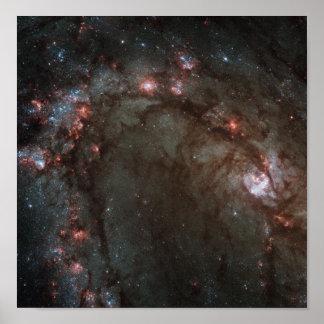M83 Spiral Galaxy NASA Poster