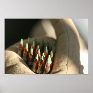 M855 rondas de la bola de 5,56 milímetros póster