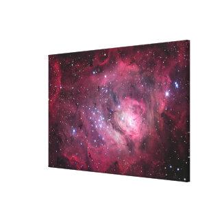 M8, la nebulosa de la laguna en sagitario lienzo envuelto para galerías