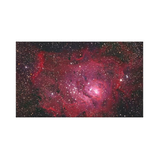 M8 Lagoon Nebula NGC 6523 Canvas Print