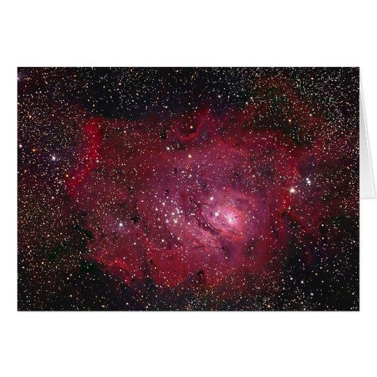 M8 Lagoon Nebula NGC 6523 Card
