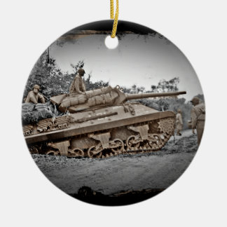 M-10 Tank Destroyer WWII Christmas Ornaments