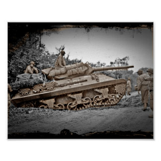 M-10 Tank Destroyer WWII Poster