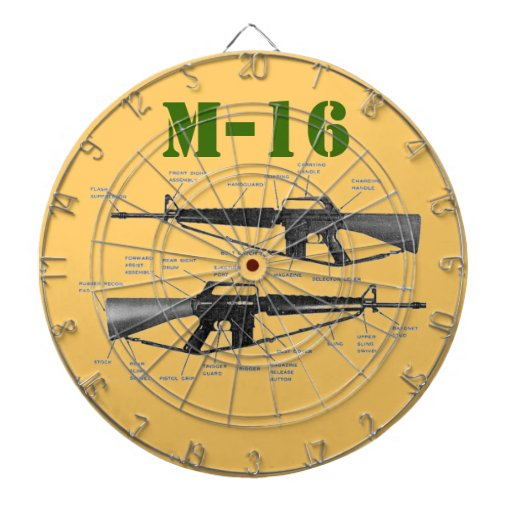 M-16 DARTBOARD WITH DARTS