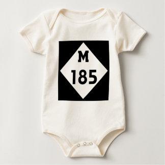 M-185   Mackinac Island Michigan Highway Baby Bodysuit
