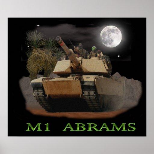 M-1 Abrams tank Poster