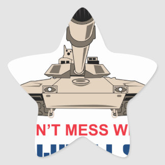 M-1 Tank Star Sticker