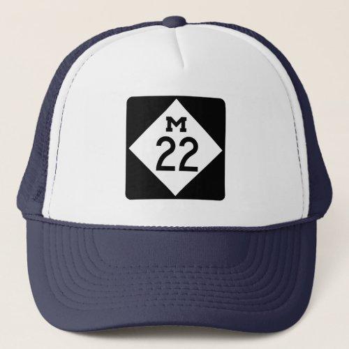 M_22 Michigan highway Trucker Hat