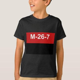 M-26-7 bandera - Bandera del Movimiento 26 de Playera