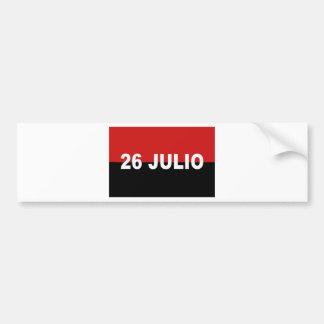 M-26-7 Flag -  Bandera del Movimiento 26 de Julio. Bumper Sticker
