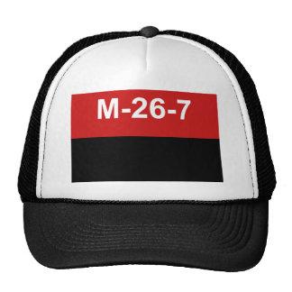 M-26-7 Flag -  Bandera del Movimiento 26 de Julio. Trucker Hat
