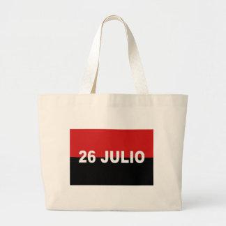 M-26-7 Flag -  Bandera del Movimiento 26 de Julio. Large Tote Bag