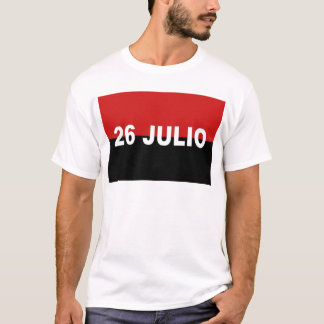 M-26-7 Flag -  Bandera del Movimiento 26 de Julio. T-Shirt