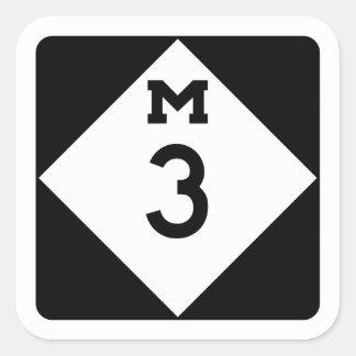 M-3, Michigan, USA Square Sticker