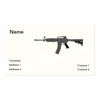 M-4 Rifle Business Card Template