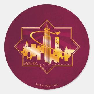 M.A.C.U.S.A. Graphic Badge Classic Round Sticker