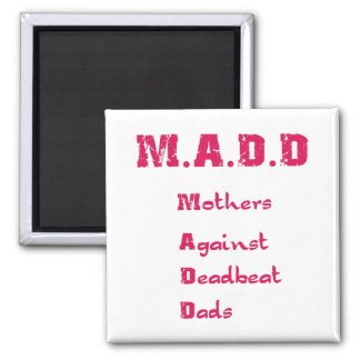 M.A.D.D. Square Magnet, Magenta 2 Inch Square Magnet