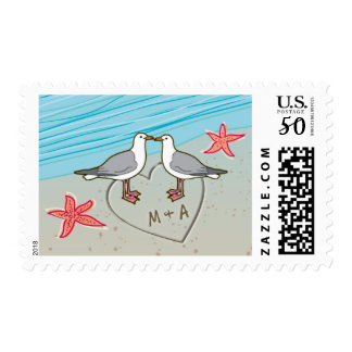 M & A Seagull love birds Postage