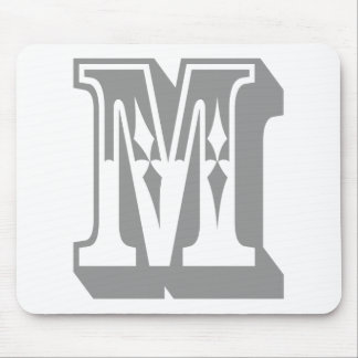 """M"" Alphabet Text Letter Tee Mouse Pad"