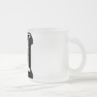 M Alphabet Text Letter Tee Mug