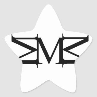 M artwork star sticker