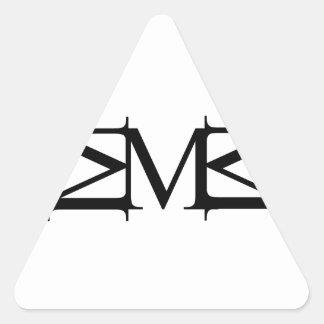 M artwork triangle sticker