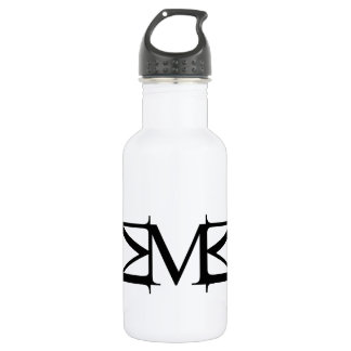 M artwork water bottle
