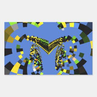 M Blue Rectangular Sticker