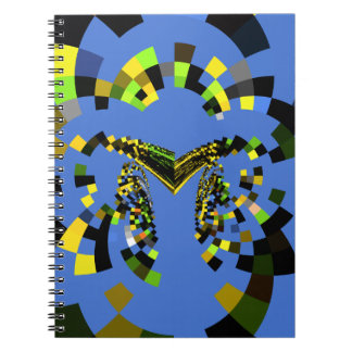 M Blue Spiral Notebook