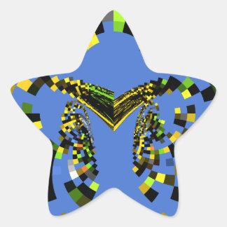 M Blue Star Sticker