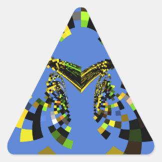 M Blue Triangle Sticker