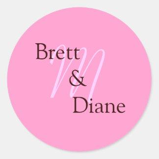 M, Brett       &               Diane Classic Round Sticker
