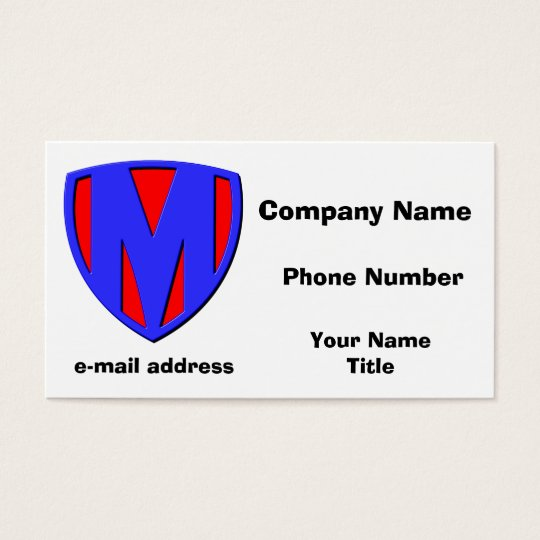 M BUSINESS CARD