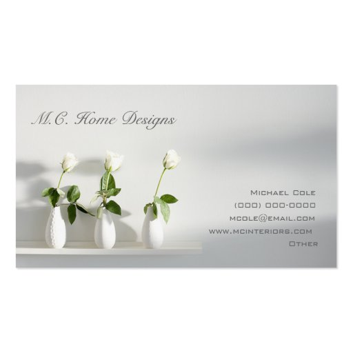 M C Home Designs Double Sided Standard Business Cards Pack Of 100 Zazzle