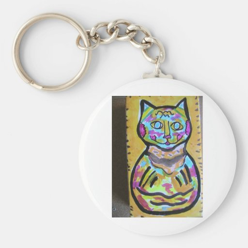 M-Cat of Hairball Alley Key Chains