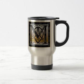 "M ""Celtic Black Stone"" Monogram Travel Mugs"