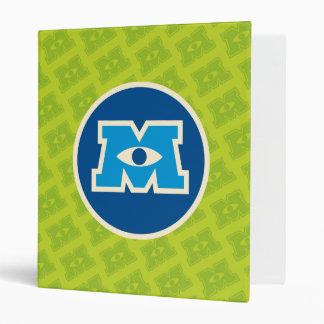 M Circle Logo 3 Ring Binder