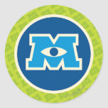 M Circle Logo Classic Round Sticker at Zazzle
