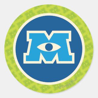 M Circle Logo Stickers