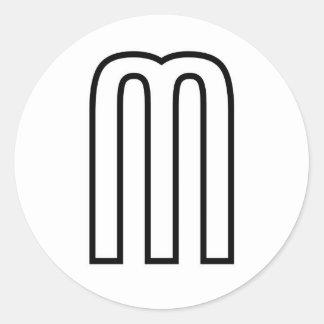 m classic round sticker